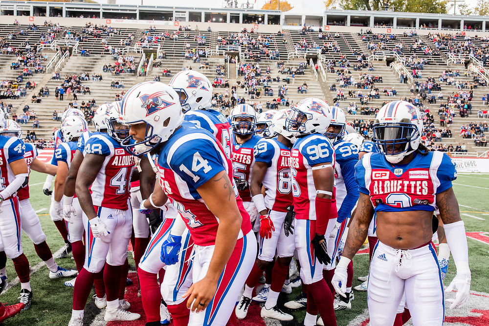 match des Alouettes contre les Tigers Cats d'hamilton à Montreal le 22 Octobre 2017<br /> <br /> photo: Dominick Gravel