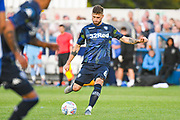 Leeds United midfielder Mateusz Klich (6) passes the ball during the Pre-Season Friendly match between Guiseley  and Leeds United at Nethermoor Park, Guiseley, United Kingdom on 11 July 2019.