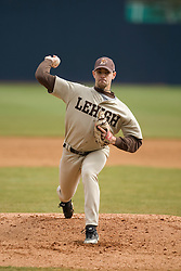 Lehigh Mountain Hawks pitcher Joe Matteo pitches against Virginia.  The #17 ranked Virginia Cavaliers baseball team defeated the Lehigh Mountain Hawks 5-1 in the 2008 season opener at the University of Virginia's  Davenport Field in Charlottesville, VA on February 23, 2008.