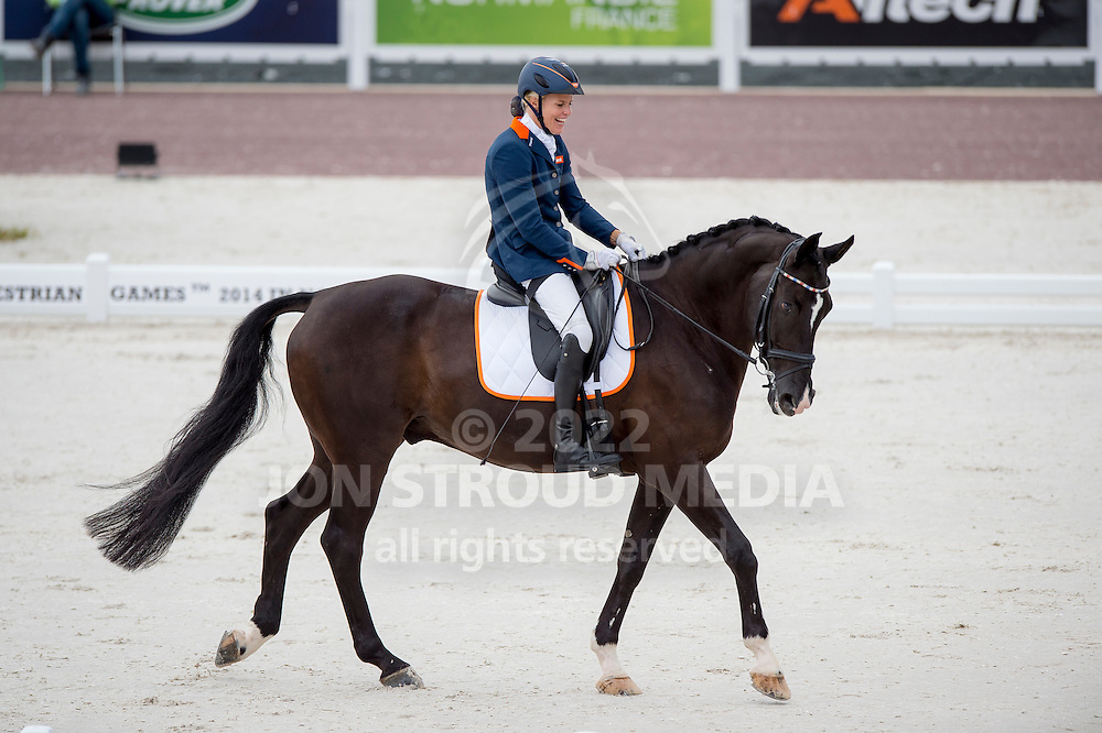 Nicole den Dulk, (NED), Wallace - Individual Test Grade Ib Para Dressage - Alltech FEI World Equestrian Games&trade; 2014 - Normandy, France.<br /> &copy; Hippo Foto Team - Jon Stroud <br /> 25/06/14
