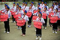 Laos, Province de Luang Prabang, ville de Luang Prabang, Patrimoine mondial de l'UNESCO depuis 1995, Fete du nouvel an lao, jeune femme aux habits traditionnels, danseuse // Laos, Province of Luang Prabang, city of Luang Prabang, World heritage of UNESCO since 1995, Lao New year festival, young woman in traditionnal dress