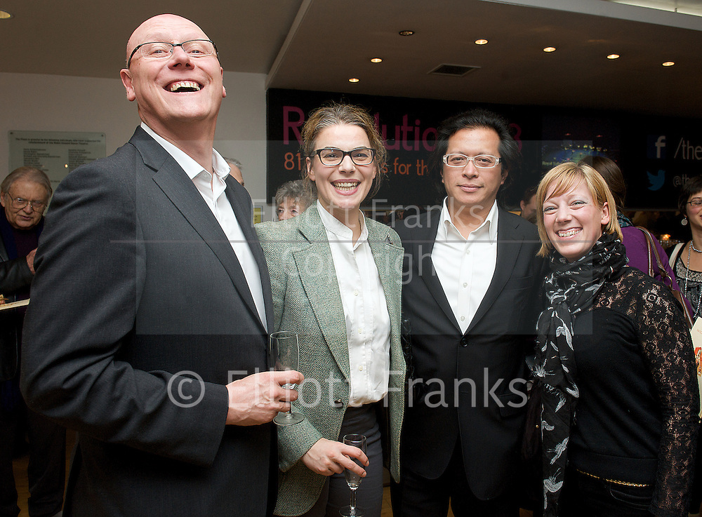 Critics' Circle<br /> National Dance Awards 2012 <br /> 18th January 2013 <br /> at the London Coliseum <br /> <br /> <br /> <br /> presentation of awards to <br /> <br /> Zdenek Konvalina who wins the <br /> OUTSTANDING MALE PERFORMANCE (CLASSICAL)<br /> presented by Charles Phu<br /> (ENGLISH NATIONAL BALLET) <br /> <br /> and <br /> <br /> Ksenia Ovsyanick<br /> Outstanding Female Performance (Classical) <br /> presented by Lee McLernon <br /> (ENGLISH NATIONAL BALLET)<br /> <br /> &amp; with the chairman of the Dance Section, Graham Watts OBE<br /> <br /> <br /> then....at The PLace on 28th January 2013 <br /> The actual awards ceremony and drinks reception <br /> <br /> Hosted by Gary Avis and Kenneth Tharp <br /> <br /> Dancing Times award for best male dance &ndash; Akram Khan<br /> <br /> Grishko award for best female dancer &ndash; Marianela Nunez<br /> <br /> Stef Stefanou award for outstanding company &ndash; Royal Ballet Flanders<br /> <br /> Best classical choreography &ndash; Arthur Pita for the Metamorphosis<br /> <br /> Outstanding female performance (classical) &ndash; Ksenia Ovsyanick<br /> <br /> Outstanding male performance (classical) &ndash; Zdenek Konvalina<br /> <br /> Dancers Pro award for outstanding modern performance (female) &ndash; Teneisha Bonner<br /> <br /> Dancers Pro award for outstanding modern performance (male) &ndash; Tommy Franzen<br /> <br /> Grishko award for best independent company &ndash; Ballet Black<br /> <br /> De Valois award for outstanding achievement &ndash; Robert Cohan<br /> <br /> Dance UK industry award &ndash; Jeanette Siddall (founder of Big Dance and founding director of Dance UK )<br /> <br /> Photograph by Elliott Franks