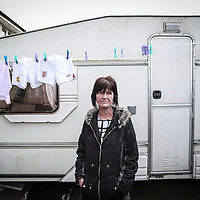 28/04/15 Stockton on Tees - Residents of Kingston Road on the Tilery Estate in Stockton feature in the new sereies of Benfeits Street on C4 - Chrissy Nutley