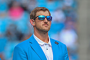 Sunday, October 6, 2019; Charlotte, N.C., USA;  Former Carolina Panthers offensive lineman Jordan Gross was inducted into the Panthers Hall of Honor during an NFL game at Bank of America Stadium. The Carolina Panthers beat the Jacksonville Jaguars 34-27. (Brian Villanueva/Image of Sport)
