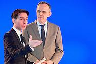 Uitreiking Sportprijs Utrecht 2014 at Jaarbeurs Utrecht: (L-R) Wethouder sport van Utrecht Paulus Janssen in gesprek