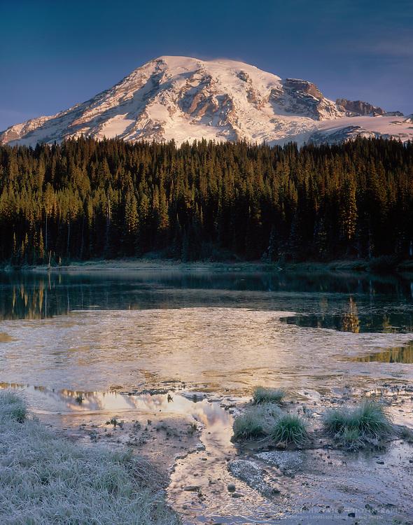 Mount Rainier 14,411 ft (4,392m) from Reflection Lake, Mount Rainier National Park