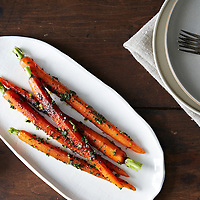 Roasted Carrots Mustard Greens Gremolata