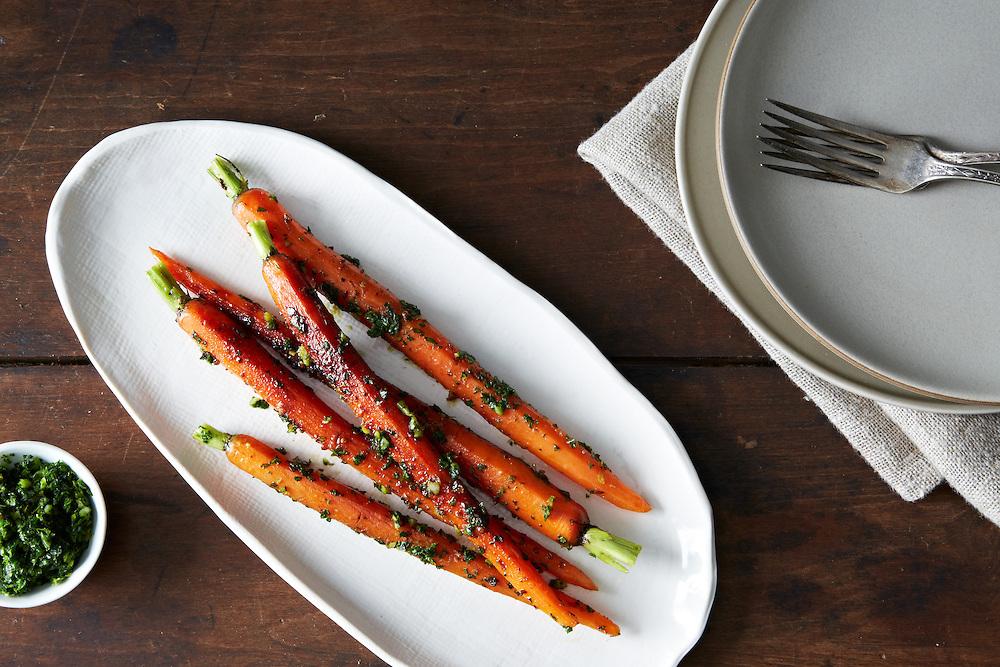 Roasted Carrots Mustard Greens Gremolata