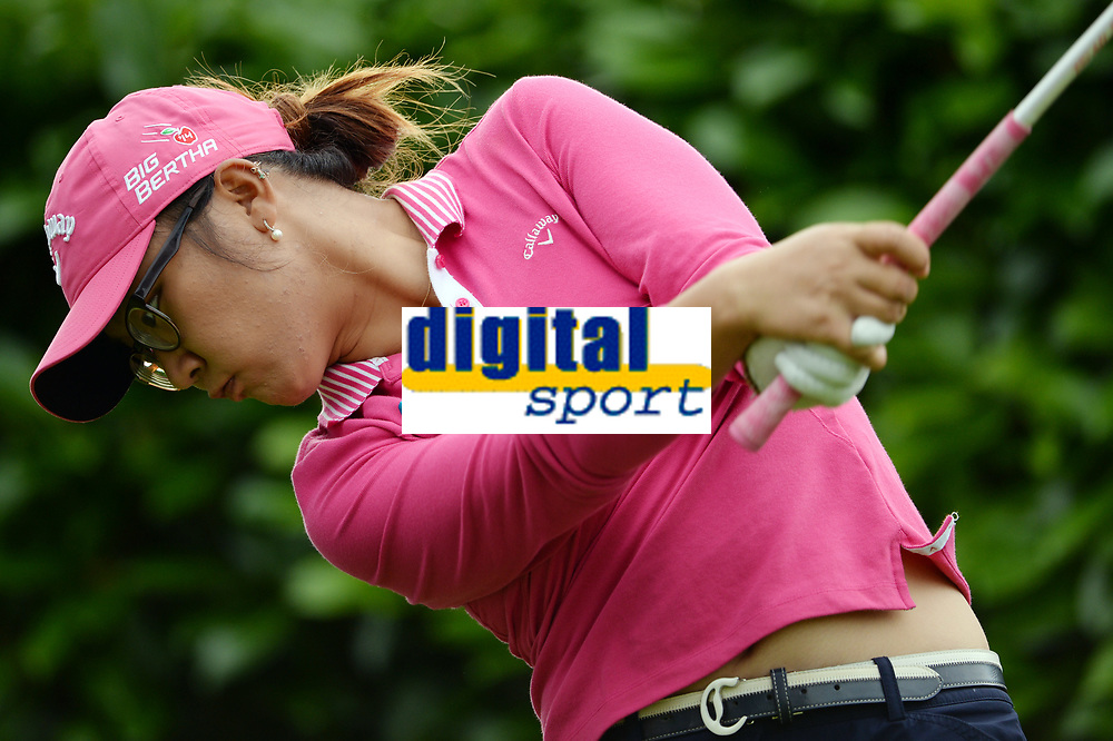 Lydia Ko (Nzl) competes during the practice round of LPGA Evian Championship 2014, day 2, at Evian Resort Golf Club, in Evian-Les-Bains, France, on September 9, 2014. Photo Philippe Millereau / KMSP / DPPI