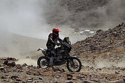 Slovenian Enduro Biker Miran Stanovnik competes during 35th rally Dakar - 2013 edition from Lima (Peru) towards Santiago (Chile). He didn't finished stage 5 due to engine failure, on January 9, 2013. (Photo by MaindruPhoto)