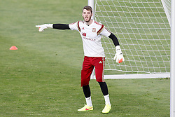 28.05.2014, Madrid, ESP, FIFA WM, Vorbereitung Spanien, Training, im Bild David De Gea // during a practice session at the Trainingscamp of Team Spain for Preparation of the FIFA Worldcup Brasil 2014, Madrid, Spain on 2014/05/28. EXPA Pictures © 2014, PhotoCredit: EXPA/ Alterphotos/ Acero<br /> <br /> *****ATTENTION - OUT of ESP, SUI*****
