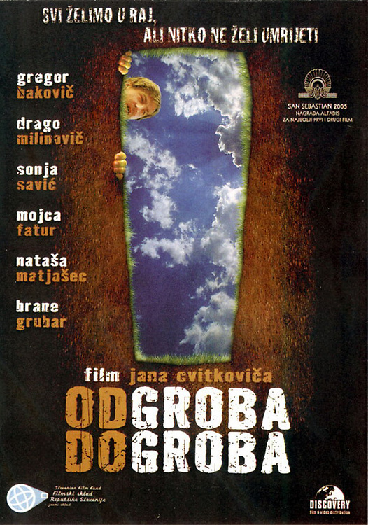 Poster for feature film Gravehopping - Od groba do groba directed by Jan Cvitković. Still photographer: Željko Stevanić/IFP