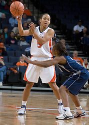 Virginia Cavaliers Guard Sharne? Zoll (5) against the North Florida Lady Ospreys Women's Basketball Team.  The University of Virginia Cavaliers defeated the North Florida Lady Ospreys Women's Basketball Team 90-57 at the John Paul Jones Arena in Charlottesville, VA on February 6, 2007.