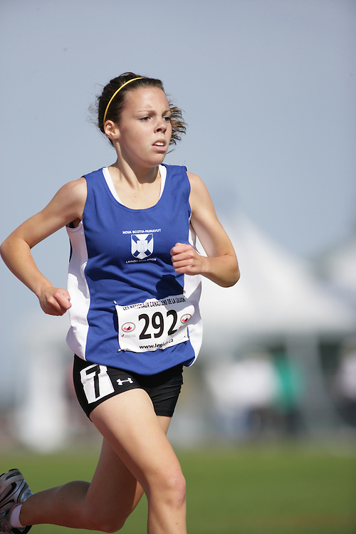 (Sherbrooke, Quebec -- 9 Aug 2009)  Sadie Petrie of Nova Scotia competes in 3000m at the 2009 Legion Youth National Track and Field Championships. Photograph copyright Sean Burges / Mundo Sport Images  2009.