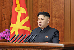 Kim Jong Un, top leader of the Democratic People's Republic of Korea (DPRK), gives a New Year s speech, December. 31, 2012. Photo by Imago / i-Images...UK ONLY