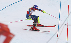 28.01.2018, Lenzerheide, SUI, FIS Weltcup Ski Alpin, Lenzerheide, Slalom, Damen, 2. Lauf, im Bild Mikaela Shiffrin (USA) patzt kurz vor dem Ziel // Mikaela Shiffrin of the USA in action during her 2nd run of ladie's Slalom of FIS ski alpine world cup in Lenzerheide, Austria on 2018/01/28. EXPA Pictures © 2018, PhotoCredit: EXPA/ Sammy Minkoff<br /> <br /> *****ATTENTION - OUT of GER*****