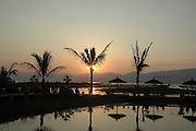 Myanmar Shan state Inle lake Inle resort hotel Sun set as seen from the hotel