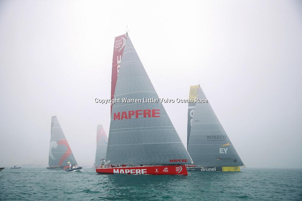 January 3, 2015. Leg 3 Start; The boats start Leg 3 from Abu Dhabi to Sanya.