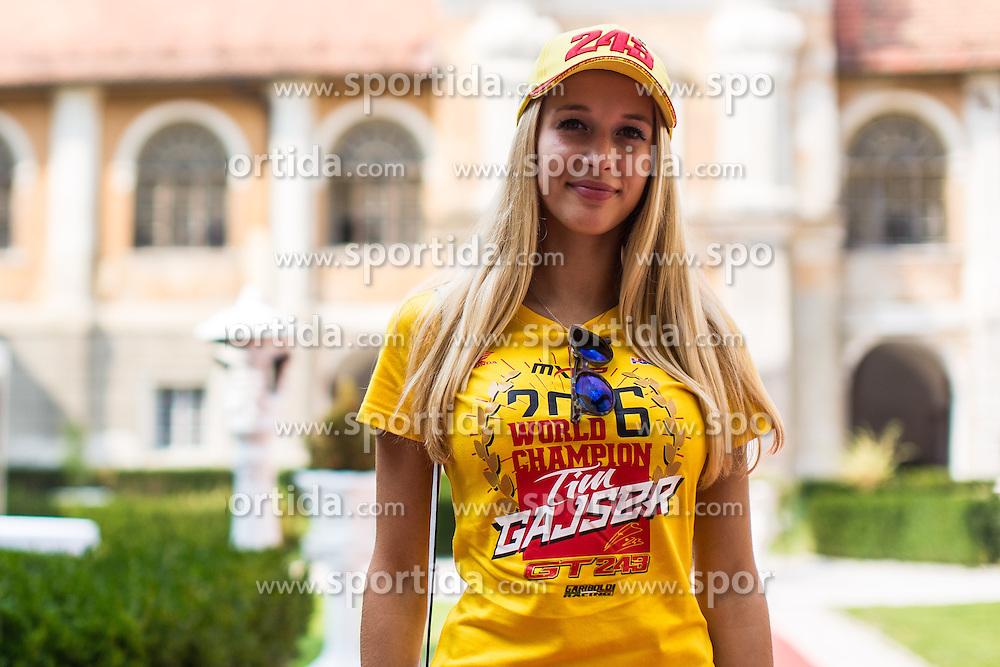 Spela girlfriend of Tim Gajser during reception of 2016 world champion Tim Gajser in MXGP , Mansion Statenberg, Makole, Slovenia. Photo by Grega Valancic / Sportida