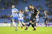 Crystal Palace #27 Damien Delaney during the The FA Cup 3rd round match between Brighton and Hove Albion and Crystal Palace at the American Express Community Stadium, Brighton and Hove, England on 8 January 2018. Photo by Phil Duncan.