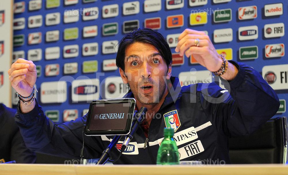 FUSSBALL INTERNATIONAL    30.05.2012  Pressekonferenz mit Gianluigi Buffon (Italien)