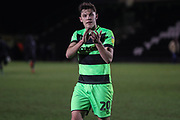 Forest Green Rovers Paul Digby(20) during the EFL Sky Bet League 2 match between Forest Green Rovers and Grimsby Town FC at the New Lawn, Forest Green, United Kingdom on 22 January 2019.