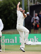 Daniel Vettori in action bowling on day 4.<br />New Zealand v West Indies, First Test Match, National Bank Test Series, University Oval, Dunedin, Sunday 14 December 2008. Photo: Andrew Cornaga/PHOTOSPORT