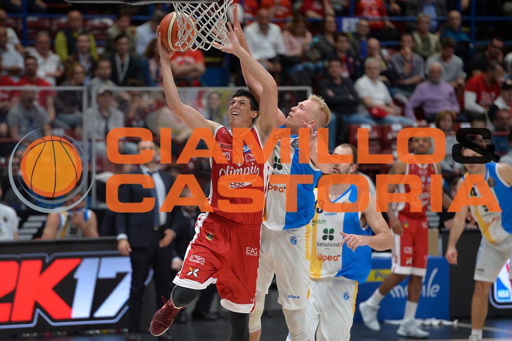 Fontecchio Simone<br /> Olimpia EA7 Emporio Armani Milano vs Vanoli Cremona<br /> Lega Basket Serie A 2016/2017<br /> PlayOff semifinale gara 2<br /> Milano 14/05/2017<br /> Foto Ciamillo-Castoria / I.Mancini