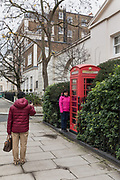 London, England, UK, February 5 2018 - Tourists in the Belgravia district, one of the richest area in London.