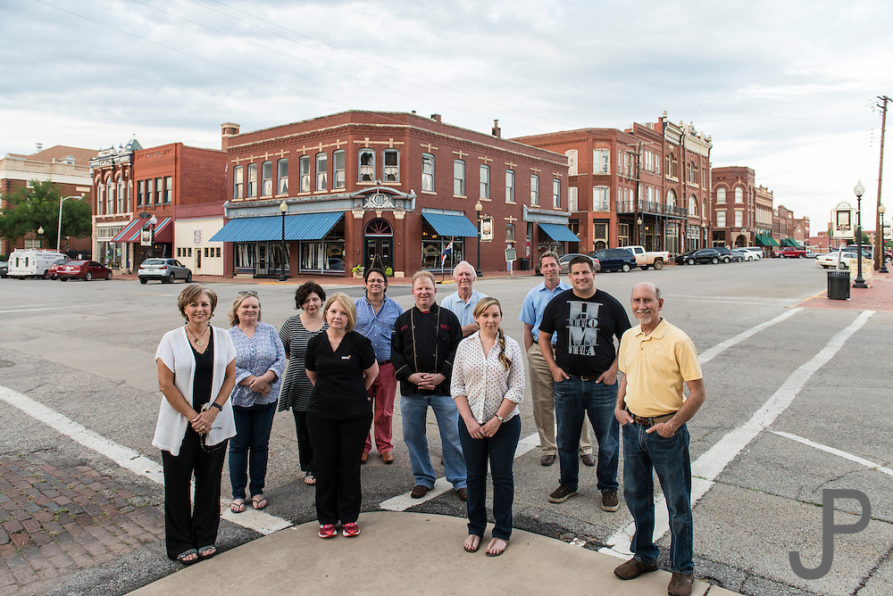 Guthrie town leaders for Oklahoma Today story