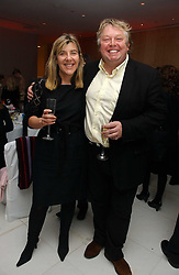 NICK FERRARI and SIOBHAN WYKES at the English National Ballet's Mad Hatters Tea Party at St.Martins Lane Hotel, St Martins Lane, London on 12th December 2006.<br />