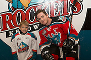 KELOWNA, CANADA - OCTOBER 14: Pepsi Player with Riley Stadel #3 of Kelowna Rockets at the Kelowna Rockets game on October 14, 2016 at Prospera Place in Kelowna, British Columbia, Canada.  (Photo By Cindy Rogers/Nyasa Photography,  *** Local Caption ***