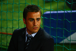 Munich, Germany - Wednesday, March 7, 2007:  Real Madrid's Fabio Cannavaro before the UEFA Champions League First Knock-out Round 2nd Leg at the Allianz Arena. (Pic by Christian Kolb/Propaganda/Hochzwei) +++UK SALES ONLY+++