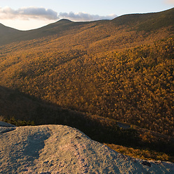 The view from Table Rock in Maine's Grafton Notch State Park. Sunday River Whitecap is in the distance, on the far left.