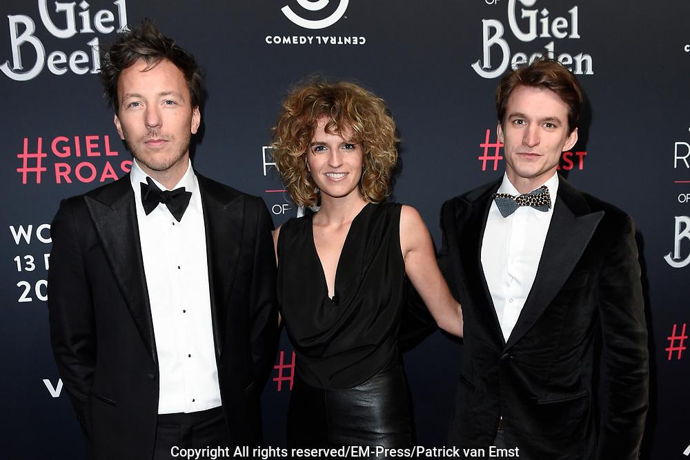 Rode loper Roast of Giel.  In het programma van Comedy Central is een bekende Nederlander een avond lang het onderwerp van harde grappen.<br /> <br /> Op de foto: