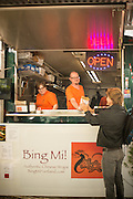 Bing Mi at the SW Alder Food Pod in Portland, Oregon is the only place in Portland that serves traditional Jian Bing from Northern China.