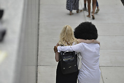 June 15, 2017 - Norristown, Pennsyvlania, United States - Accuser LILI BERNARD is embraced by a supporter outside Montgomery Counting Courthouse. (Credit Image: © Bastiaan Slabbers/NurPhoto via ZUMA Press)
