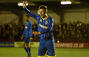 Seanan Mckillop calls for the ball during the FA Youth Cup match between U18 AFC Wimbledon and U18 Chelsea at the Cherry Red Records Stadium, Kingston, England on 9 February 2016. Photo by Michael Hulf.