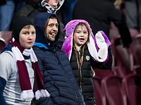 Football - 2019 / 2020 William Hill Scottish Cup - Quarter-Final: Heart of Midlothian vs. Rangers<br /> <br /> Hearts fans during the game, Edinburgh.<br /> <br /> COLORSPORT/BRUCE WHITE