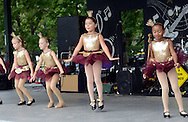 A young group of dancers from Downstage Center perform during the Morrisville Labor Day Picnic Monday September 5, 2016 at Williamson Park  in Morrisville, Pennsylvania. (Photo by William Thomas Cain)