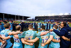 Worcester Warriors huddle together after defeat to Harlequins - Mandatory by-line: Robbie Stephenson/JMP - 16/02/2019 - RUGBY - Twickenham Stoop - London, England - Harlequins v Worcester Warriors - Gallagher Premiership Rugby