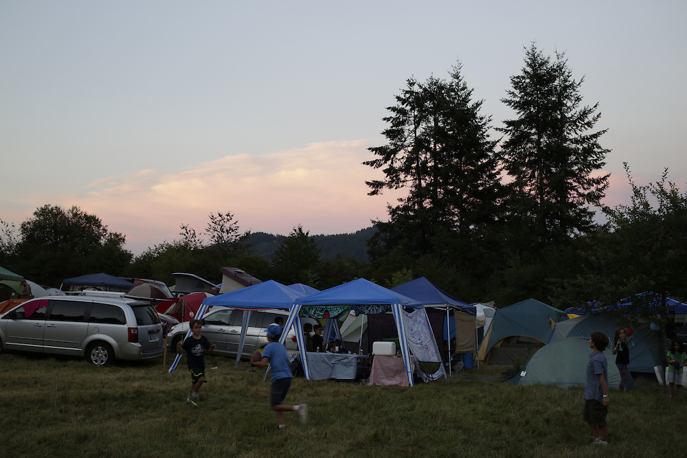 Campers at Pickathon in Portland, Ore. on Friday, August 1, 2014. (Photo by Jason Redmond)