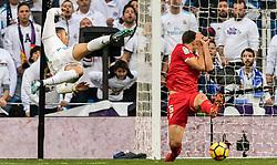 (L-R) Cristiano Ronaldo dos Santos Aveiro of Real Madrid, Clement Nicolas Laurent Lenglet of Sevilla FC during the La Liga Santander match between Real Madrid CF and Sevilla FC on December 09, 2017 at the Santiago Bernabeu stadium in Madrid, Spain.