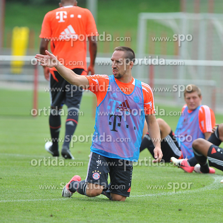 30.07.2012, Saebener Strasse, Muenchen, GER, 1. FBL, FC Bayern Muenchen, Training, im Bild Franck RIBERY (FC Bayern Muenchen), Freisteller // during a Trainingssession of the German Bundesliga Club FC Bayern Munich at the Saebener Strasse, Munich, Germany on 2012/07/30. EXPA Pictures © 2012, PhotoCredit: EXPA/ Eibner/ Wolfgang Stuetzle..***** ATTENTION - OUT OF GER *****