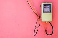 Electrical meter in Bauta, Artemisa, Cuba.