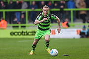 Forest Green Rovers Marcus Kelly(10) runs forward during the Vanarama National League match between Forest Green Rovers and Wrexham FC at the New Lawn, Forest Green, United Kingdom on 18 March 2017. Photo by Shane Healey.