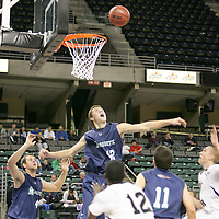 Mustang forward Alex Winter (42) reaches for a rebound.