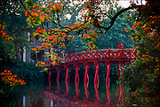 Tamarind frames the bridge to the Tortoise Toweron an island in the middle of the Lake of the Restored Sword in Hanoi, capital of Vietnam.  © Steve Raymer / National Geographic Creative