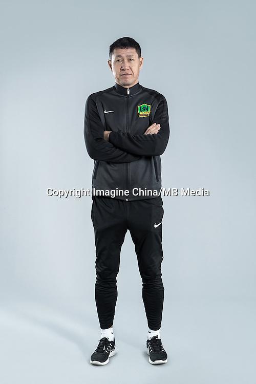 Portrait of head coach Li Bing of Guizhou Hengfeng Zhicheng F.C. for the 2017 Chinese Football Association Super League, in Guiyang city, southwest China's Guizhou province, 23 February 2017.