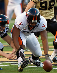 Virginia FB Rashawn Jackson (31) recovers a Wake Forest fumble.  The Wake Forest Demon Deacons defeated the Virginia Cavaliers 24-17 in NCAA Division 1 Football at BB&T Field on the campus of Wake Forest University in Winston-Salem, North Carolina on November 8, 2008.